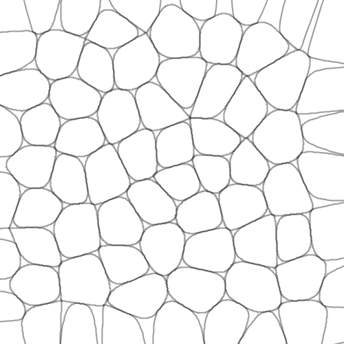 Canvas with Perlin-noise-based force lines