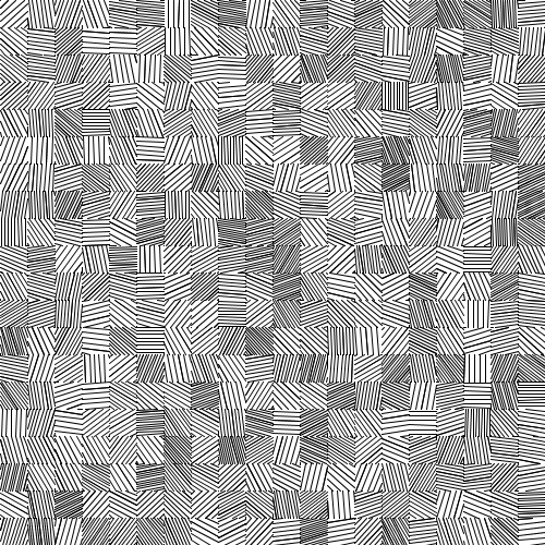 Another example with parallel lines at randomly-generated angles but random line spacing